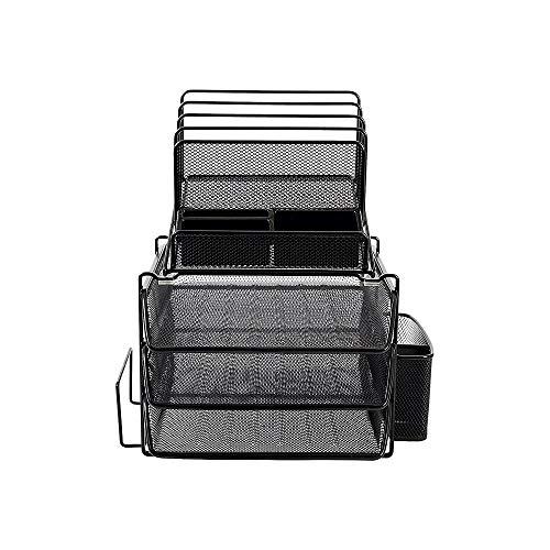 Staples 2030247 All-in-One Wire Mesh Desk Organizer Black (29491)