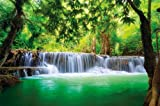 Paradise Photo Wall Paper - Waterfall in the Jungle - Jungle River Kanchanaburi Thailand Si Sawa Mural - XXL Wall Decoration