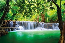 Paradise Photo Wall Paper – Waterfall in the Jungle – Jungle River Kanchanaburi Thailand Si Sawa Mural – XXL Wall Decoration