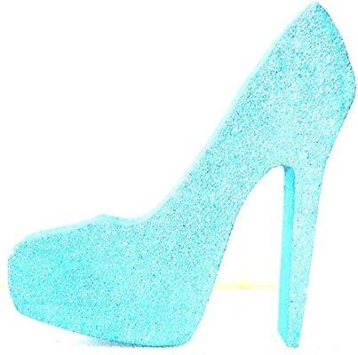 5b2fdea3384a Amazon.com  High Heel Stiletto Shoe (Tiffany Blue Glitter