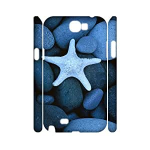 ALICASE Hard case Starfish 3D Diy For Samsung Galaxy Note 2 N7100 [Pattern-1]