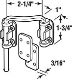 "Defender Security U 10537 Steel Nickel Plated Left Hand Sliding Door Loop Lock, 2-1/4"""