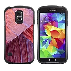 """Hypernova Slim Fit Dual Barniz Protector Caso Case Funda Para Samsung Galaxy S5 [Escalada Líneas Desierto Rojo""""]"""
