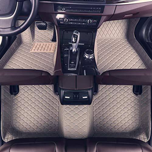 8X-SPEED Custom Car Floor Mats for BMW 5 Series Sedan F10 520i 523i 528i 535i 550i 2011-2013 2012 Full Coverage All Weather Protection Waterproof Non-Slip Leather Liner Set Gray
