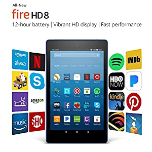 """All-New Fire HD 8 Tablet with Alexa, 8"""" HD Display, 16 GB, Marine Blue - with Special Offers"""