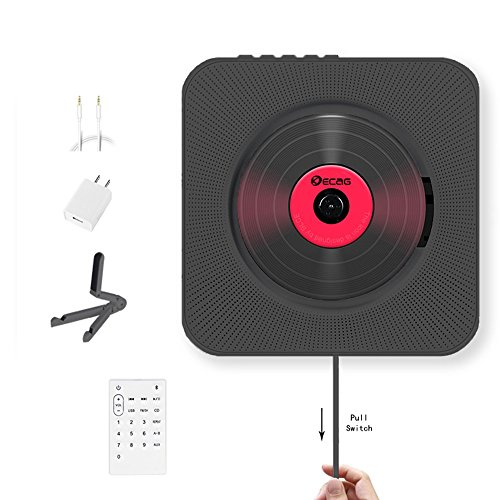 KECAG CD Player Wall Mountable Bluetooth Boombox Portable Home Audio with...