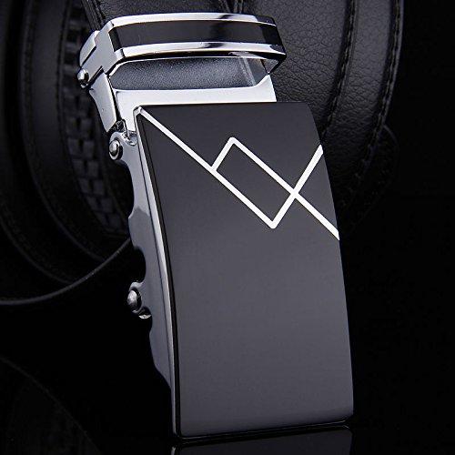 In 48 Vita Pelle Cinture Vestito Casual Fibbie Nera Uomini Automatica Cintura Business 4Cq5xP