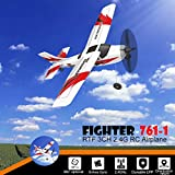 COLOR-LILIJ RC Airplane with 2.4GHz Over 320 ft Control, 6-Axis Gyro, 3-Level Flight Control assists - Help Beginners Learn to Fly Step by Step, Easy to Fly 761-1 RTF Plane for Beginners,US Stock