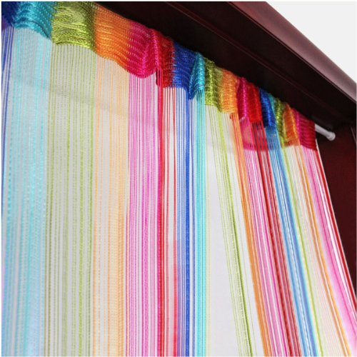 Tangpan 6 Color Colorful Door Window Panel Room Divider Curtain String Strip Tassel in Party Events -