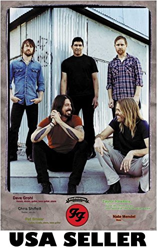 Foo Fighters tin building vert POSTER 23.5 x 34 Dave Grohl Pat Smear rock group (sent from USA in PVC pipe)