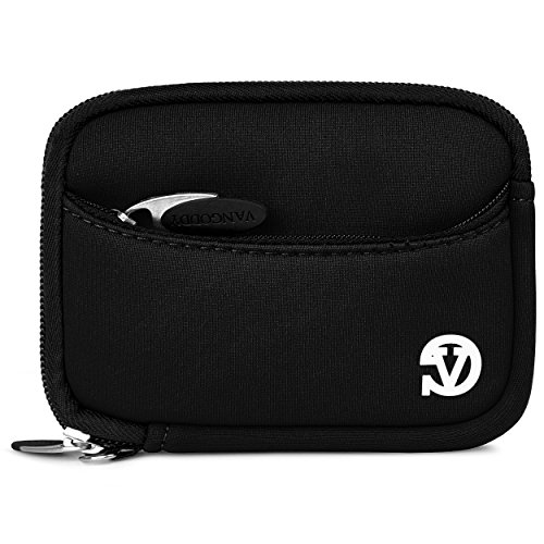 Black Neoprene Cover Case for Canon PowerShot Mini Glove Bag Carrying Sleeve For Slim Digital Cameras and Camera Accessories: models Canon PowerShot S90, S95, SD1200IS, SD1300IS, SD1400IS, A3100, Canon PowerShot SX200IS, Canon PowerShot D10, SD890IS, SD780IS + Screen Protector + Live*Laugh*Love Vangoddy Wristband!!!