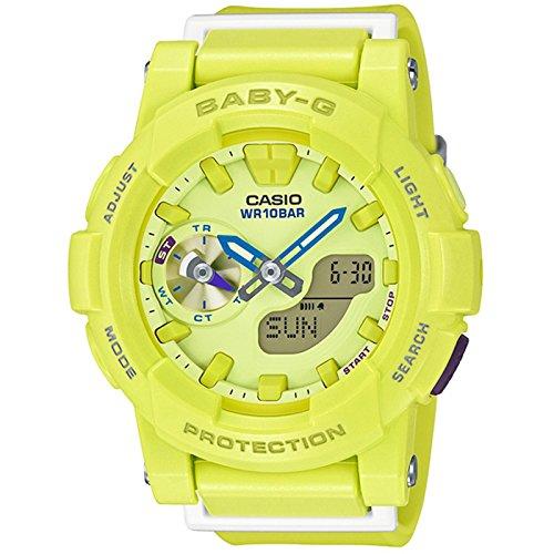 Dial Resin Quartz Movement (Casio Baby-G CC Series Yellow & Blue Dial Resin Quartz Ladies Watch BGA185-9A)