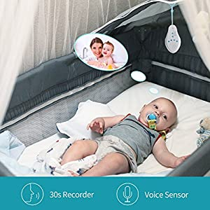 Three sheep Recordable White Noise Sleep Baby Sound Machine W/ 4 Soothing Sounds 3 Lullaby Sleep Timer 30 seconds recorder Voise Sensor for kids Sleep nursery