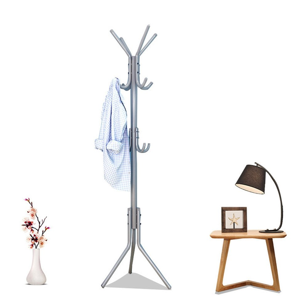 Hook Standing Metal Coat Rack Hat Jacket Hanger 12 Hooks Display Hall Tree Shelf Umbrella Purse Bags Rack for Entryway, Bedroom,Office
