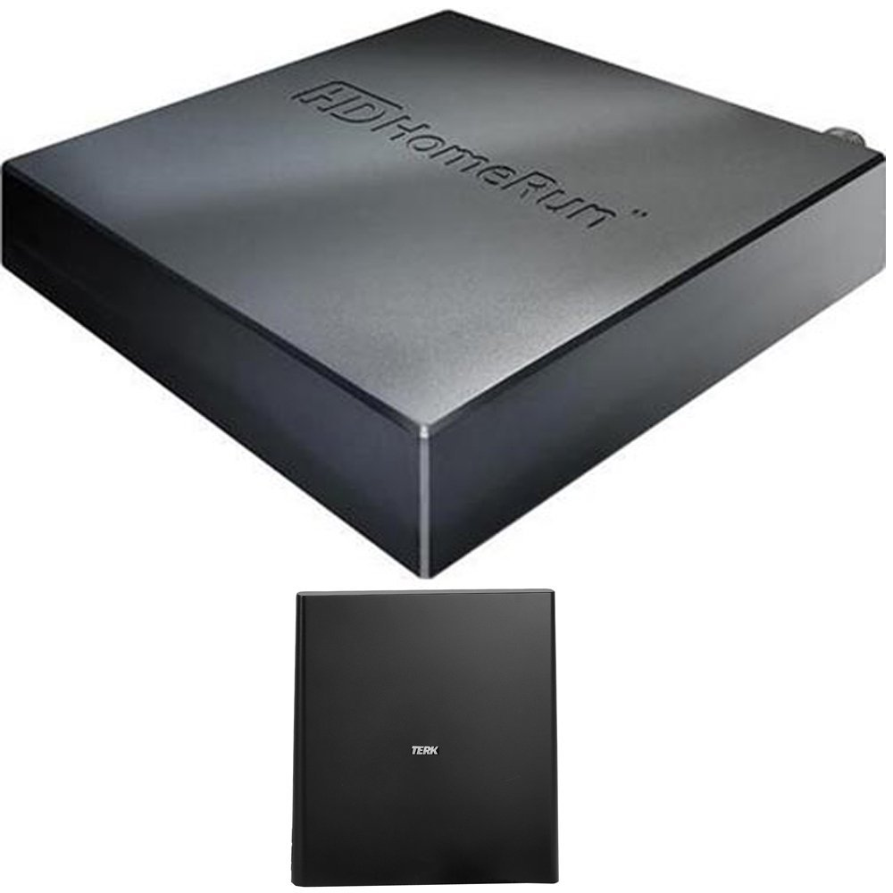 SiliconDust HDHomeRun CONNECT DUO 2 (HDHR5-2US) with Terk Indoor Flat 4K HDTV Multi-Directional Antenna