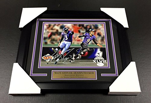 Baltimore Ravens Nfl 8x10 Photo - Justin Tucker Matt Stover Autographed 8x10 Photo Baltimore Ravens Framed Coa - JSA Certified - Autographed NFL Photos