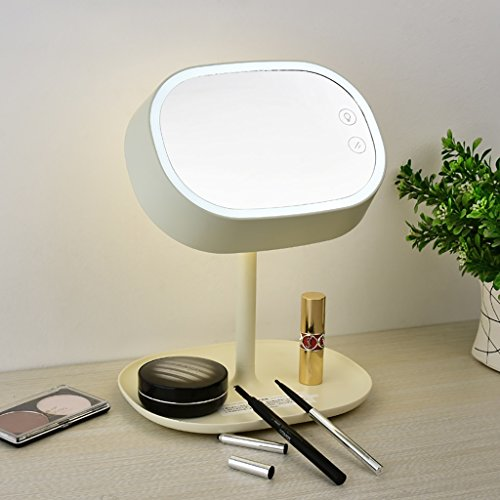 Makeup Mirror Modern Simple Table Lamp Dresser Mirror Charge Dimming Touch LED Table Lamp ( Color : Beige ) by Crystal