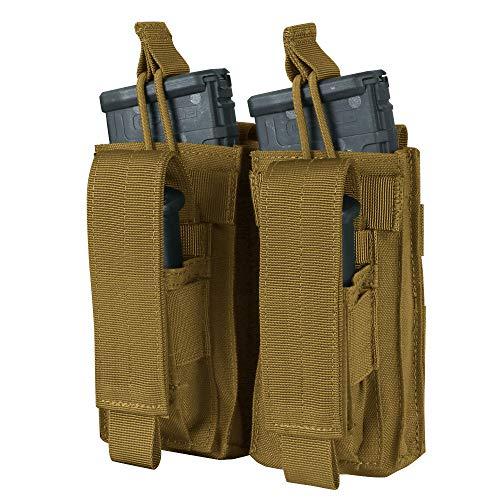 CONDOR MA51 Double Kangaroo Magazine Pouch holds (2) M4/M16 Mag, (2) Pistol Mag