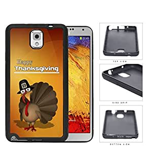 Happy Thanksgiving Turkey In A Hat Rubber Silicone TPU Cell Phone Case Samsung Galaxy Note 3 III N9000 N9002 N9005