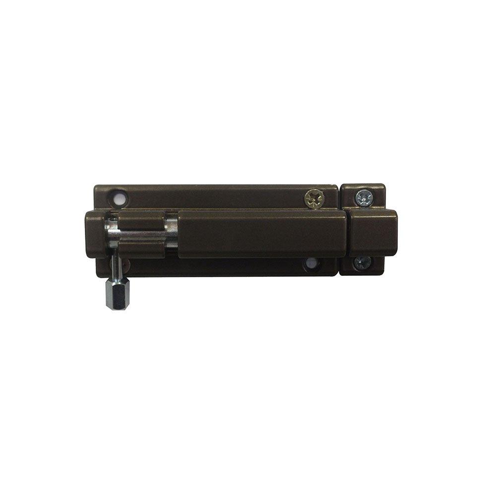 Bolzenriegel Riegel T/ürriegel Schubriegel Sicherheitsriegel mit befestigter Schlaufe 80 mm Weiss