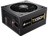 Corsair Enthusiast Series TX 550 Watt ATX/EPS Modular 80 PLUS Bronze (TX550M)