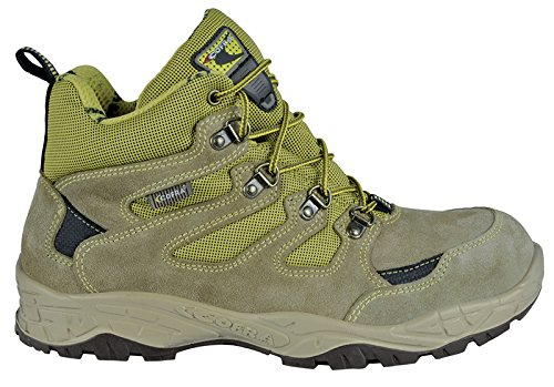 """Cofra 22300-000.W42 S1 P SRC taglia 42 """"Crevasse"""" Scarpe di sicurezza, colore: grigio/verde"""