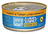 Natural Balance L.I.D. Limited Ingredient Diets Wet Cat Food for Indoor Cats, Turkey & Turkey Liver Formula, 5.5-Ounce Can (Pack of 24)