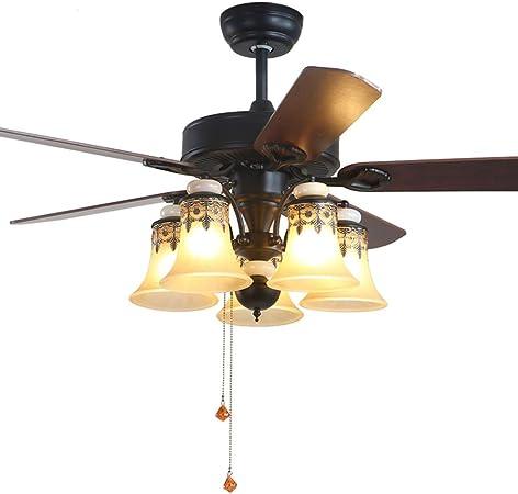 Ventilador techo con luz Ventilador doméstico con luz de ...
