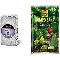 Sustratos - Sustrato Perlita 5L - Batlle + Compo Sana 8 semanas de abono para Todas Las Especies de Cactus y suculentas…