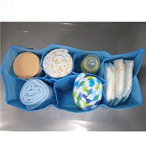youpin Baby Windel Windel Wasser Flasche Trennwand Lagerung Organizer Wickeltasche (blau 6-Zellen)