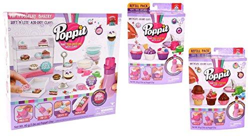 Poppit Pop N'Display Bakery + Mini Ice Cream & Mini Cupcakes Refill Packs!!