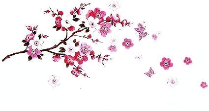 Decorazioni Fiori.Adesivi Murali Fiori Sakura Rimovibile Fiore Di Ciliegio Ramo D