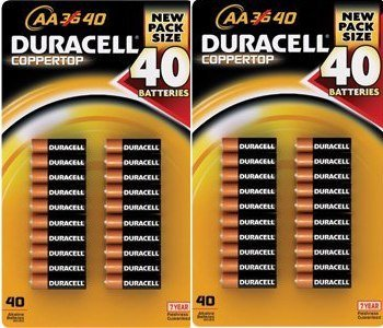 80 Pack Duracell Coppertop AA
