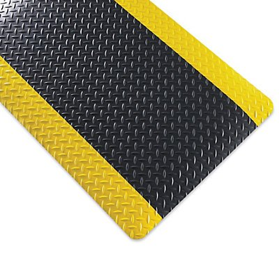Relius Solutions Smart Diamond-Plate Mat – 2X3 – 1 – Black Yellow Border – Black Yellow Border – 2×3