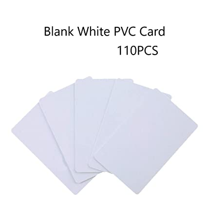 jiaxing 110piezasPVC Card, Tarjeta Blanca Tarjeta plástica ...