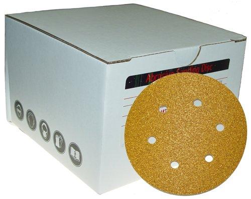 Magnate P66X2 PSA 6'' 6 Hole Discs - 24 Grit; 10 Discs/Pkg; X Weight; Resin Bond Cloth Backings