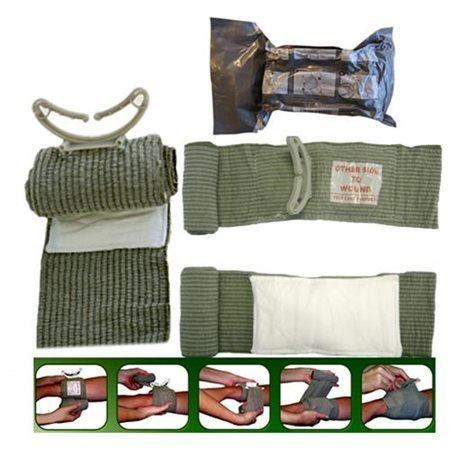 "3 X Israeli Battle Bandages 6"" (Israeli Battle Dressing) 5"