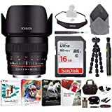 Rokinon 50mm F1.4 Lens for Sony E Mount Mirrorless Cameras with Deluxe Photography Accessory Kit