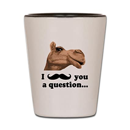 3a67c4c4d3ca Amazon.com | CafePress - Funny Camel Shot Glass - Shot Glass, Unique ...