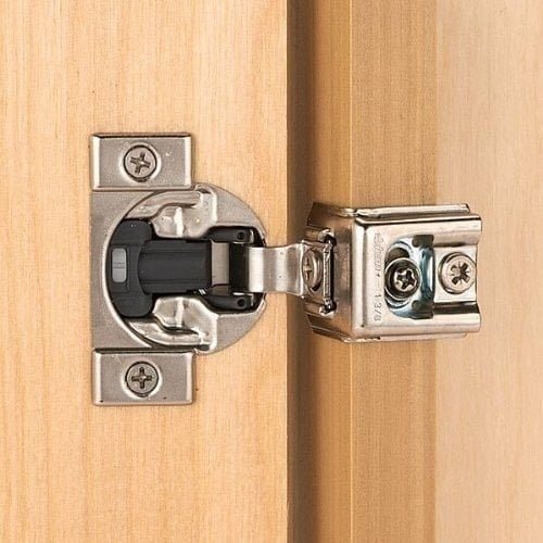 Blum Rok Hardware (Pack of 10) 110 Degree Compact 39C Series otion 1.5 inch Overlay Screw-On Self-Closing Cabinet Hinge