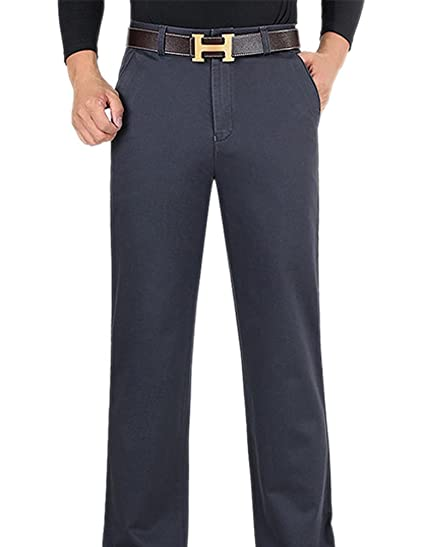 a09236360a43 SK Studio Men's Straight Leg Loose Fit Casual Dress Pants: Amazon.co.uk:  Clothing