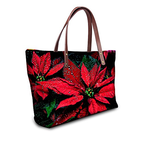 Fashion Leaf 3 Vintage maple DESIGNS Handbag Casual U Floral FOR Bags Waterproof Tote Print Rose Women qZE1cw6