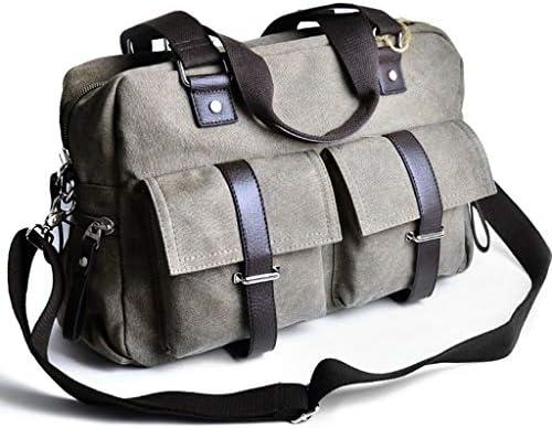 メンズ多目的キャンバスクロスボディレジャースポーツフィットネスバッグ大容量多目的屋外のトラベルバッグ多目的ポケットデザインブラック、グレー HMMSP (Color : Gray)