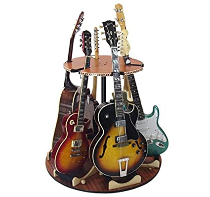 The Carousel Wood Rotating Multi Guitar Stand