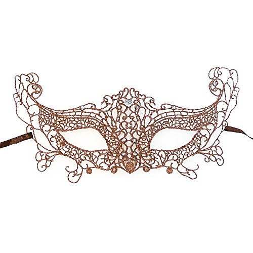 Dragonfly Costume Make (Rose Gold Dragonfly Metal Venetian Masquerade Mask Event Party Ball Mardi Gars Halloween)