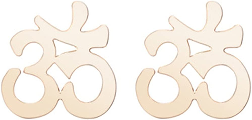Gold and silver yoga 3D Japanese style earrings