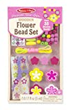 Melissa & Doug Decorate-Your-Own Wooden Flower Bead Jewelry-Making Craft Kit