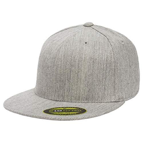 "Premium 210 Flexfit Fitted Flatbill Hat with NoSweat Hat Liner (L/XL (7 1/4"" - 7 5/8""), Heather ()"