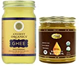 8oz Ancient Organics Ghee with Pure Traditions 8oz Brown Butter Ghee