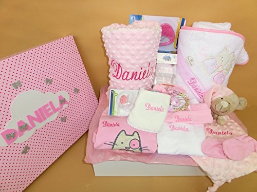 Set Regalo Bebé – Canastillas personalizada para niño o niña, el regalo perfecto para recién